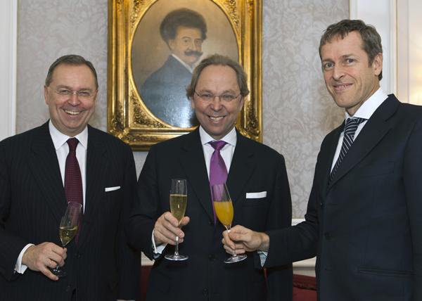 Die Managing Partner von Binder Grösswang (Michael Kutschera und Thomas Schirmer) gratulierten herzlich.