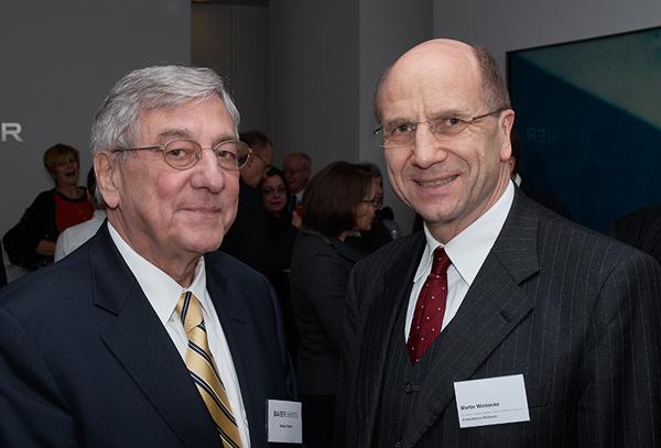 Anton Baier und der Schweizer Rechtsanwalt Martin Wiebecke